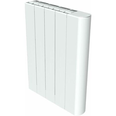 Emisor termico seco con elementos a inercia cerámica blanco formato horizontal y plano Carrera