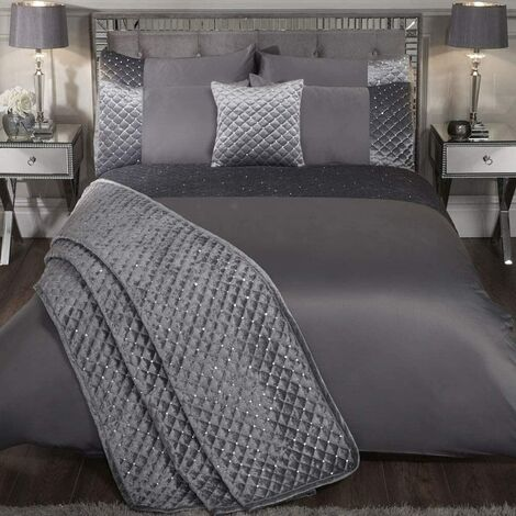 Emma Barclay Bedspread & Pillowsham Set, Silver, Double/King Bed