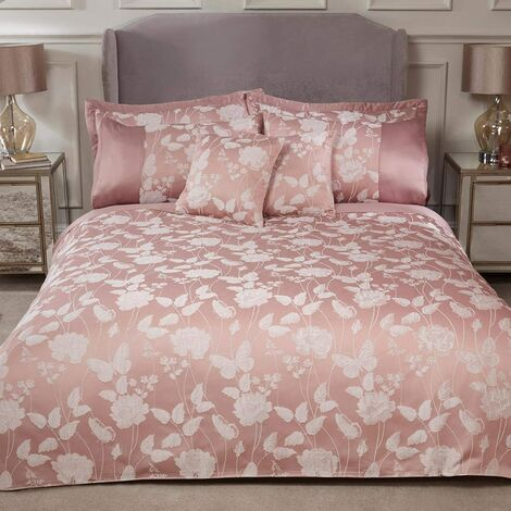 Emma Barclay Butterfly Meadow Duvet Super King Bed, 100% Polyester, Blush Pink
