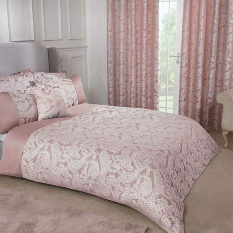 Emma Barclay Duchess Duvet Double Bed, 100% Polyester, Blush Pink