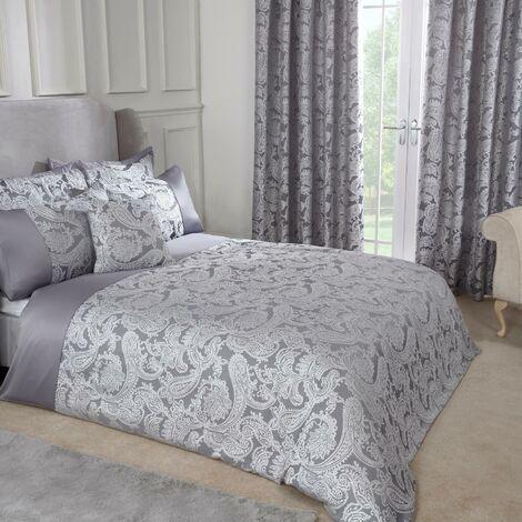 Emma Barclay Duchess Duvet Super King Bed Silver, 100% Polyester
