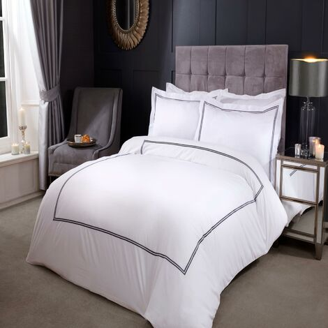 Emma Barclay Mayfair Duvet Set King Bed Graphite, Cotton | 50% Polyester