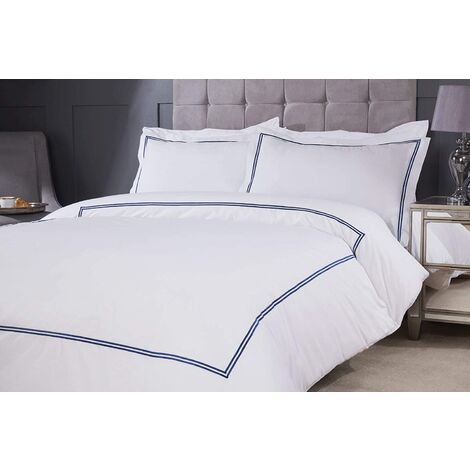 Emma Barclay Mayfair Duvet Set Super King Bed Navy, Cotton | 50% Polyester