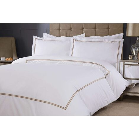 Emma Barclay Mayfair Duvet Set Super King Bed Taupe, Cotton | 50% Polyester