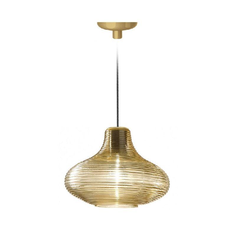 Homemania - Emma Haengelampe - Kronleuchter - Deckenkronleuchter - Gold aus Glas, 26 x 26 x 18,5 cm, 1 x E27, Max 57W, 1050lm, 2700K, 220-240V