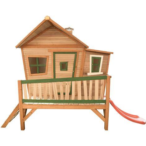 Emma Playhouse: Maisonnette pour enfants, fenêtres intégrées et bois très résistant