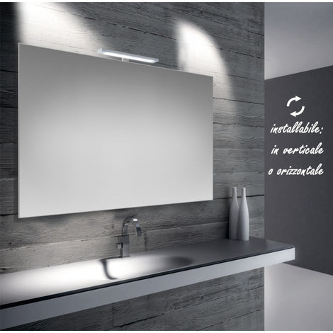 Luce Led Specchio Bagno.Emma Specchio Reversibile Da Bagno Filo Lucido 100x70 Cm Con Lampada Led 5w