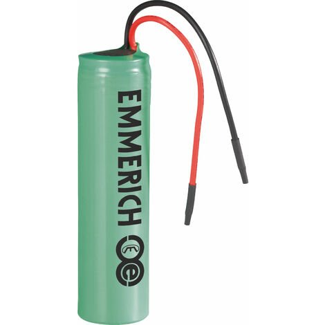 Emmerich 233974 ICR-18650NQ-SP Lithium 3.7V 2600mAh Rechargeable Battery Pack