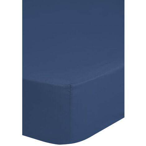 Emotion Bügelfreies Spannbettlaken 180 x 200 cm Blau 0220.24.46