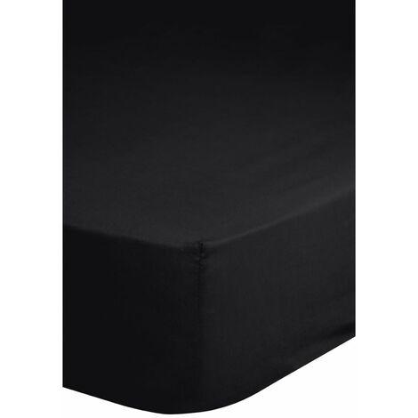 Emotion Spannbettlaken Jersey 160/180x200 cm Schwarz 0200.04.46