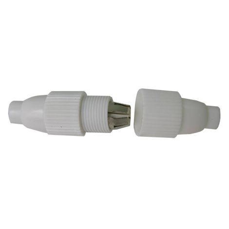 "main image of ""empalme cable coaxial blanco"""