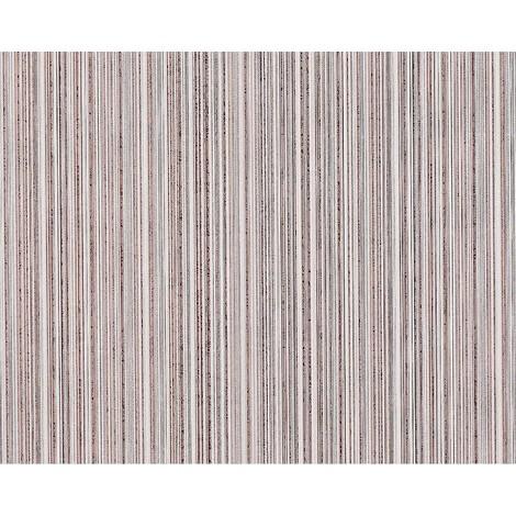 Empapelado tejido no tejido con patrón a rayas EDEM 673-93 en marrón pardo beige cacao blanco gris plata 10,65 m2