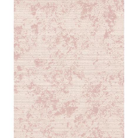 Empapelado texturado EDEM 1027-13 papel pintado vinílico texturado tono sobre tono efecto satinado crema beige 5,33 m2