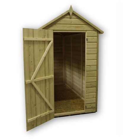Empire 8000 Premier Apex Shed 4x4 - natural