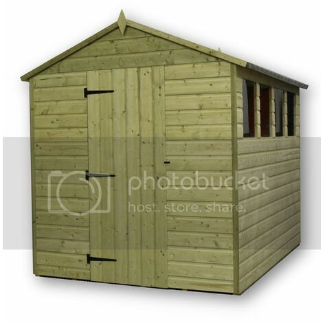 Empire 9200 Premier Apex Shed windows 5x12 - natural