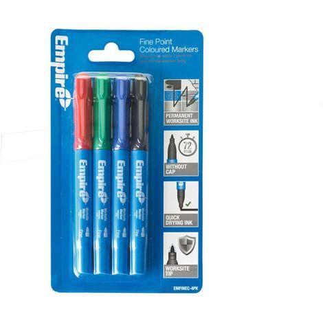 EMPIRE Fine Point Color Markers - 4pc