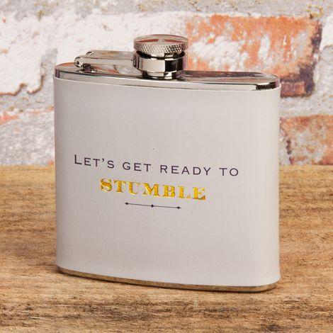 Emporium 5oz Hip Flask - Lets Get Ready To Stumble