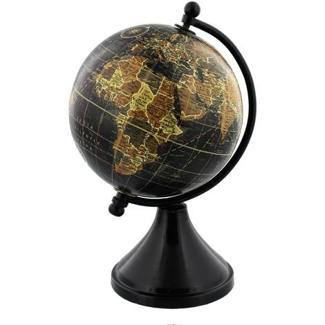 Emporium Collection Globe with Metal & Wooden Base 10cm