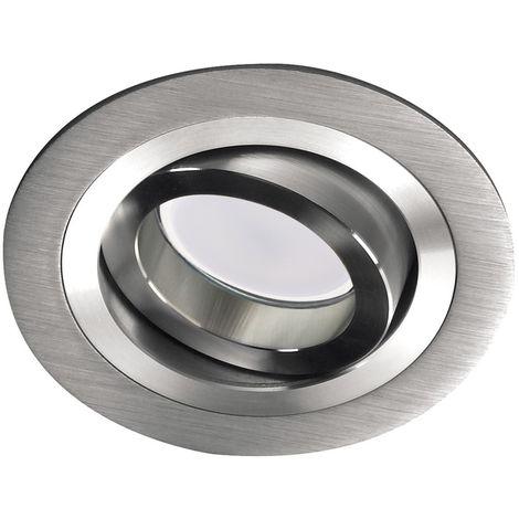 Empotrable Aluminio + Bombilla LED 8W cálida
