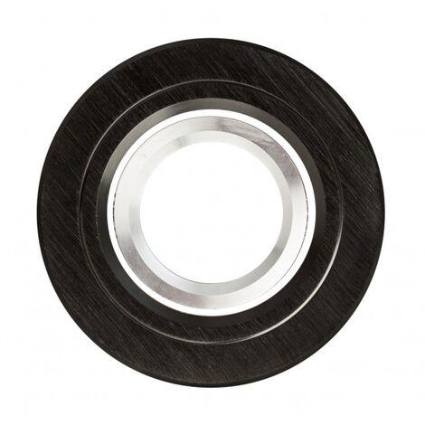 Empotrable Andros redondo negro/cromo Gu10