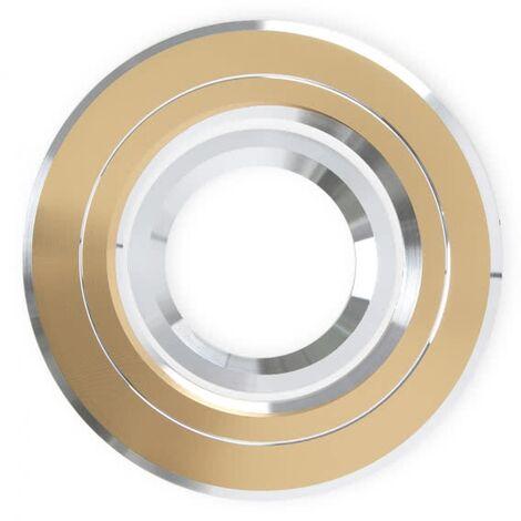 Empotrable Andros redondo oro/cromo Gu10