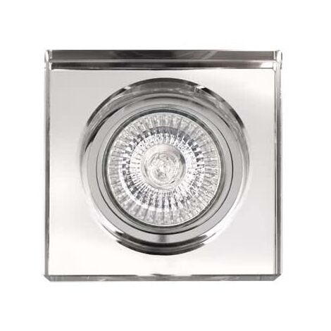 Empotrable cristal Landa gu10 cuadrado grosor 1 cm