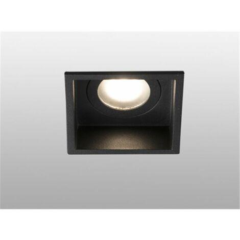 Empotrable cuadrado de techo Faro Barcelona HYDE 40117 negro para baños IP44
