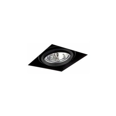Empotrable cuadrado orientable de techo Faro Barcelona GINGKO-1 Negro sin marco (trimless)