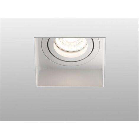 Empotrable cuadrado orientable de techo Faro Barcelona HYDE 40112 blanco sin marco (trimless)