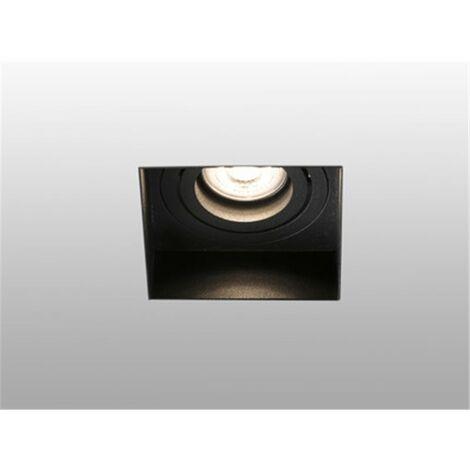 Empotrable cuadrado orientable de techo Faro Barcelona HYDE 40113 negro sin marco (trimless)