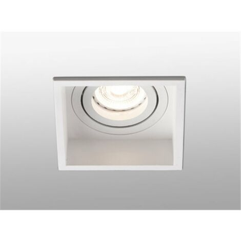 Empotrable cuadrado orientable de techo Faro Barcelona HYDE 40120 blanco