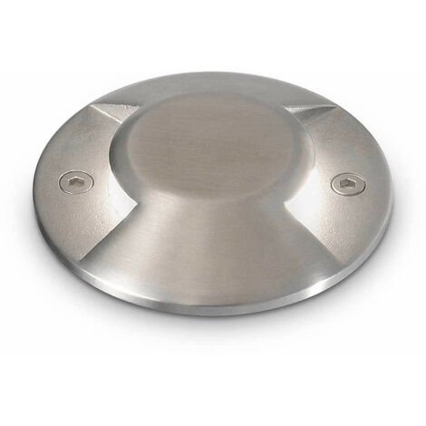 Empotrable de acero ROCKET 1 bombilla de aluminio