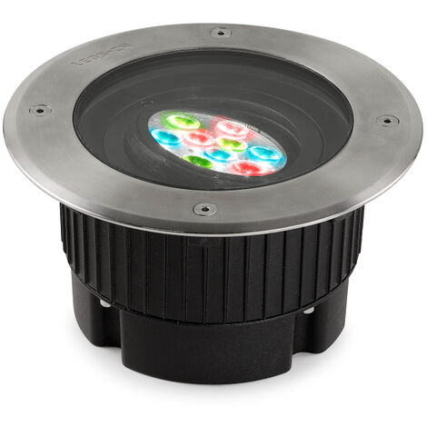 EMPOTRABLE DE SUELO IP65/IP67 GEA RGB DMX DIAMETRO 180MM LED 17.1 RGB PULIDO 424 - Leds-c4 Outdoor