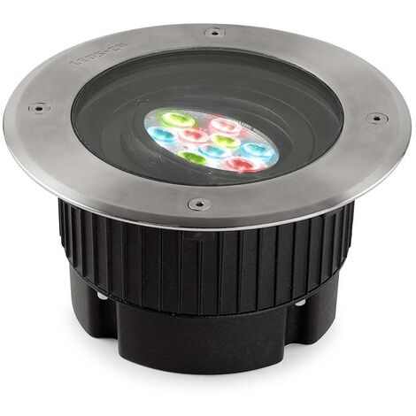 EMPOTRABLE DE SUELO IP65/IP67 GEA RGB EASY+ DIAMETRO 180MM LED 17.1 RGB PULIDO 424 - Leds-c4 Outdoor