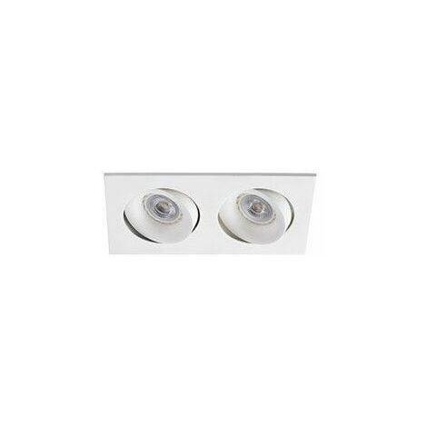 Empotrable doble cuadrado orientable de techo Faro Barcelona ARGON 43403 Blanco