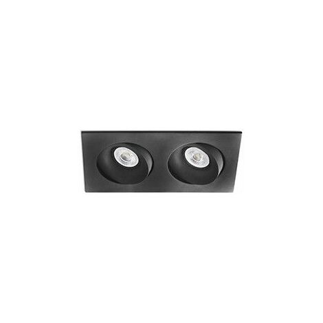 Empotrable doble cuadrado orientable de techo Faro Barcelona ARGON 43413 Negro