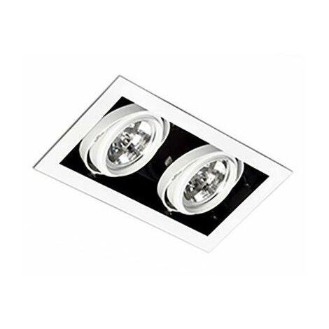 Empotrable doble cuadrado orientable de techo Faro Barcelona GINGKO-2 03030201 Blanco
