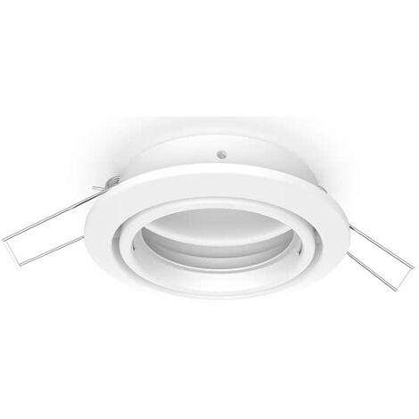 Empotrable Inteca Redondo Orientable Blanco 8 cm
