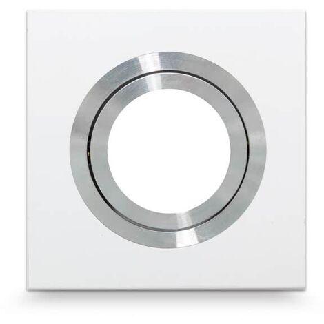 Empotrable Ítaca Cuadrado blanco/cromo Gu10