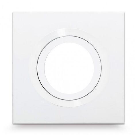 Empotrable Ítaca cuadrado blanco GU10 - Blanco