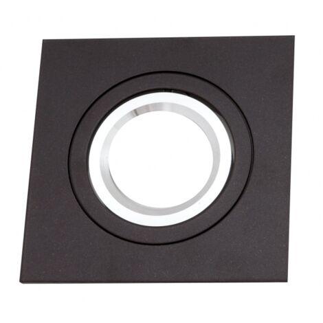 Empotrable Ítaca cuadrado marrón/cromo Gu10