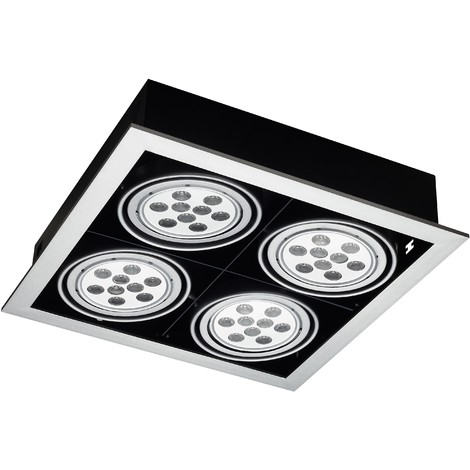 Empotrable Led Ibu Big 36W Color: Aluminio/Negro