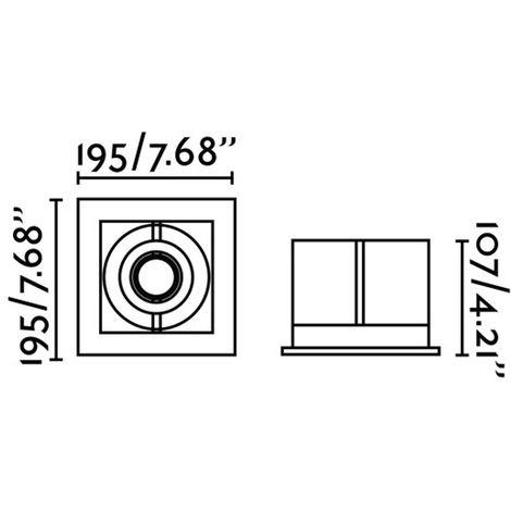 Empotrable orientable Gingko (QR-111)