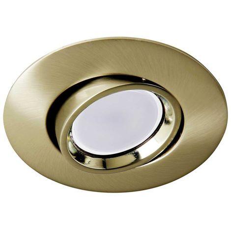 Empotrable oro viejo + Bombilla LED 8W cálida