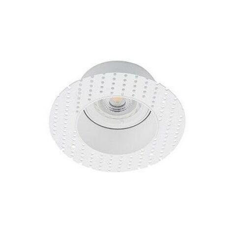 Empotrable redondo de techo Faro Barcelona FRESH 02100701 Blanco sin marco (trimless)