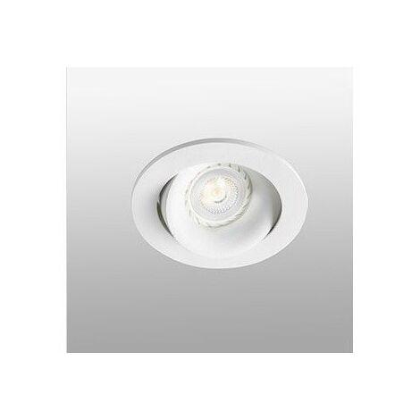 Empotrable redondo orientable de techo Faro Barcelona ARGON 43401 Blanco