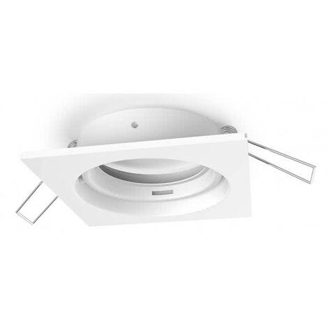Empotrable serie Inteca cuadrado orientable blanco 8x8