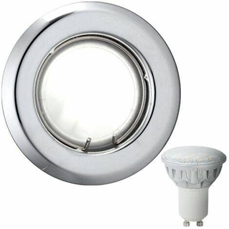 empotrada en el techo focos sala de estar la iluminación del punto de cromo en el conjunto, incluyendo lámparas LED