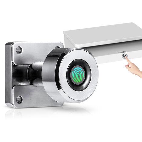 Empreintes Digitales Serrure De Tiroir Locks Cabinet Numerique 20 Fingerprints Rechargeable Sans Cle Mobilier Integre En Alliage De Zinc