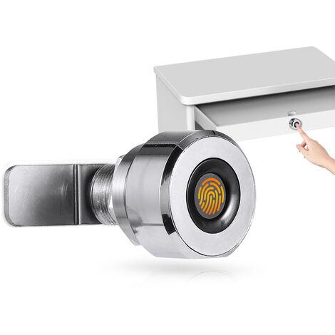 Empreintes Digitales Serrure De Tiroir Locks Cabinet Numerique 20 Fingerprints Rechargeable Sans Cle Mobilier Integre En Alliage De Zinc Smart Lock